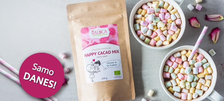 Happy Cacao mix GRATIS Samo danes 17.2. do 23:59 >> ob nakupu nad 15 €
