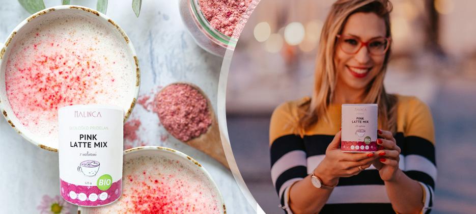NOVO! Pink latte mix