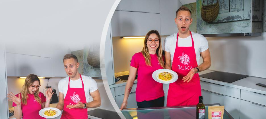 Vesela žlica 3. epizoda kuharske oddaje z Nastjo in Filipom >>