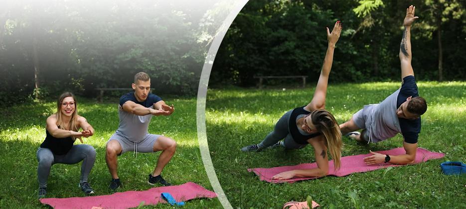 Poletni trening za trebuh, noge in zadnjico >>