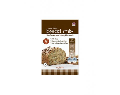 Sukrin Low Carb mešanica za kruh s sončničnimi in bučnimi semeni 250g