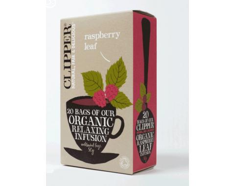 Organski čaj z okusom malinovih listov