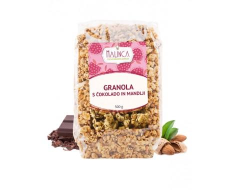 Granola s čokolado in mandlji 500g