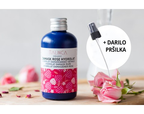 Hidrolat damaščanske vrtnice iz ekološke pridelave