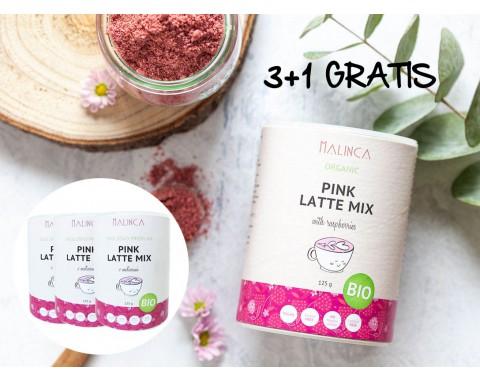Pink latte mix iz ekološke pridelave 3+1 gratis