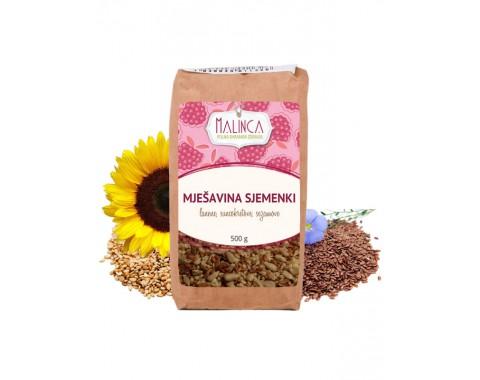 Mješavina sjemenki (suncokretove, sezamove i lanene) 500g