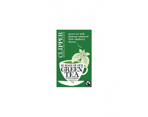 Zeleni čaj s gingsengom i malinom