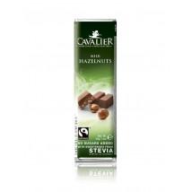 Mliječna čokolada sa zdrobljenim lješnjacima, bez šećera 40g