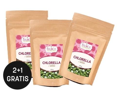 Chlorella Tabletten aus ökologischem Landbau 100 g 2+1 gratis