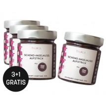 Paket Schoko-Haselnuss-Aufstrich 200g 3 +1 gratis