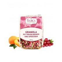 Granola mit Preiselbeeren und Aprikosen