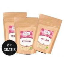 Psyllium/Flohsamenschalen aus ökologischem Landbau 200g 2+1 gratis