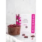 Zartbitterschokolade mit Stevia – Himbeere 80g