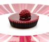 Himbeeren und Schokolade in Torte-Form