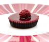 Maline in čokolada v obliki tortic