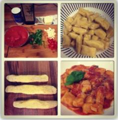 Hausgemachte Dinkel-Gnocchi mit Tomatensauce