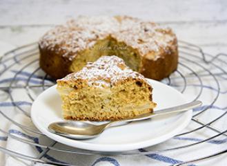 Jabolčna tortica brez moke in mleka