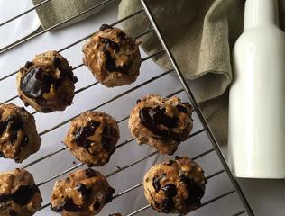 Veganski čokoladni piškoti z arašidovim maslom