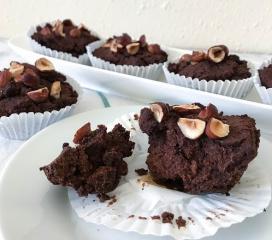 Low-carb Schokoladen-Haselnüsse-Muffins