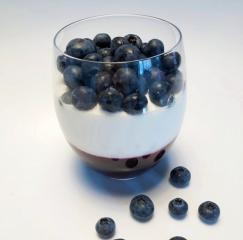 Borovničeva in jogurtova krema