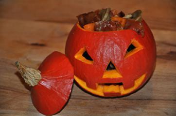 Tortellini zu Halloween
