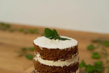 »Naked cake« kokosova tortica s kakavom