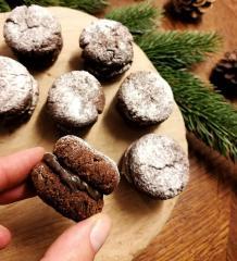 Kekse mit Mohnaufstrich