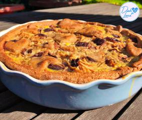 Jabolčno slivova pita