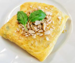 Riž v jajčni blazinici z azijskim pridihom