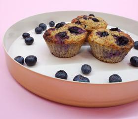 Muffini od borovnica bez glutena i šećera