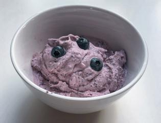 Heidelbeeren Eiscreme