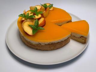 Breskova torta (brez glutena)