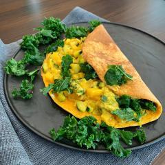 Kürbis-Tortilla (mit Gemüse)