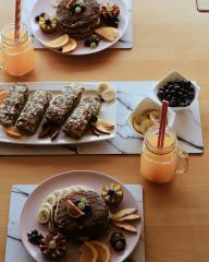 Vegane Kokos Pfannkuchen