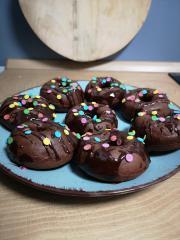Schoko Donuts aus dem Ofen
