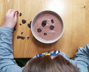 Dinkelgrieß mit Kakao