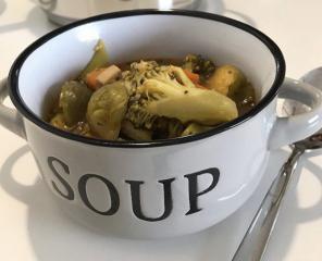 Zelenjavna juha s piščancem