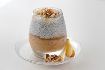 Apfel-Chia-Pudding