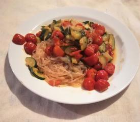 Spaghetti ohne Kohlenhydrate auf mediterrane Art