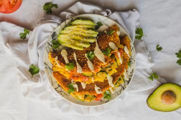Veganes Kichererbsen Omelett
