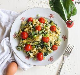 Rührei mit Quinoa