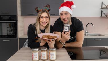 Festliche Lebkuchen Kekse