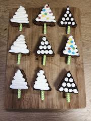 Süße Weihnachtsbäume