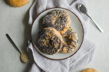 Dinkel-Bagels wie vom Bäcker