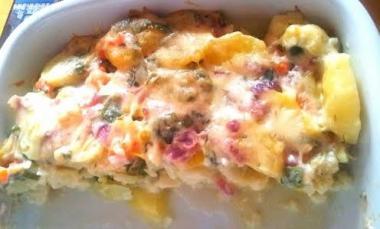 Pečena cvetača s krompirjem
