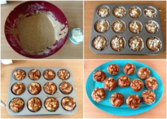 Pirini kokosovi mafini z malinami