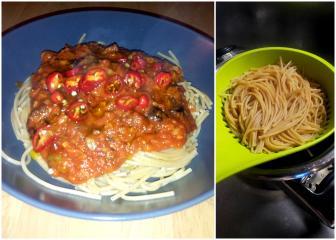 Integralna tjestenina s umakom od povrća
