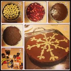 Sadno-čokoladna presna torta brez moke
