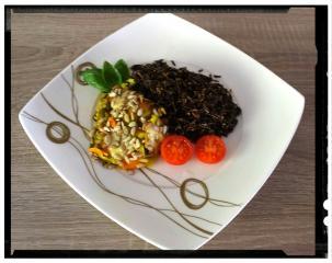 Bučke z divjim rižem