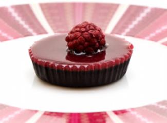 Maline i čokolada u obliku tortice